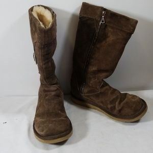 Ugg Australia Brown Slip On Winter Boots Size 9